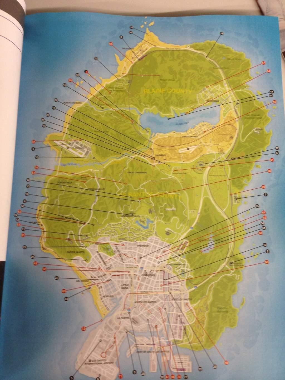 Опубликована карта игры GTA 5.