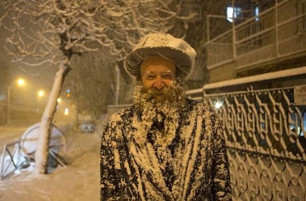 снег иерусалим декабрь