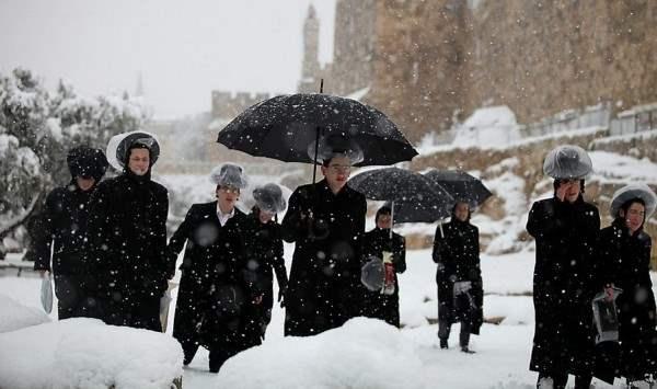 снег иерусалим декабрь13