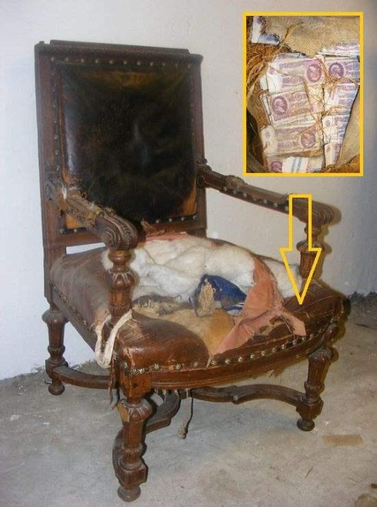 Вот что нашли в старом стуле…