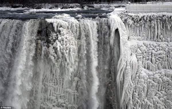 ниагарский водопад замерз4