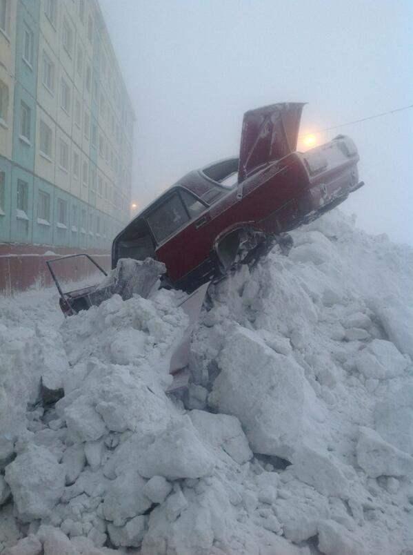 В Норильске -64°, (7 фото)