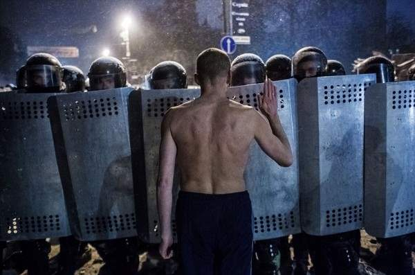 Protests in Kiev, Ukraine - 22 Jan 2014