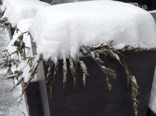 снег в днепропетровске 28 января 2014