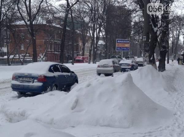 снег в днепропетровске 28 января 2014. 11
