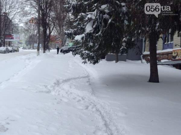 снег в днепропетровске 28 января 2014. 12