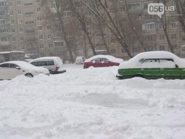 снег в днепропетровске 28 января 2014. 15