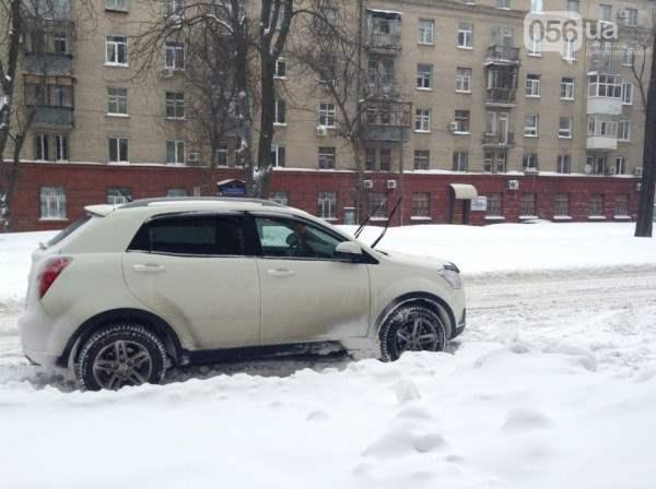 снег в днепропетровске 28 января 2014. 17