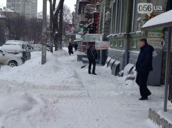 снег в днепропетровске 28 января 2014. 2
