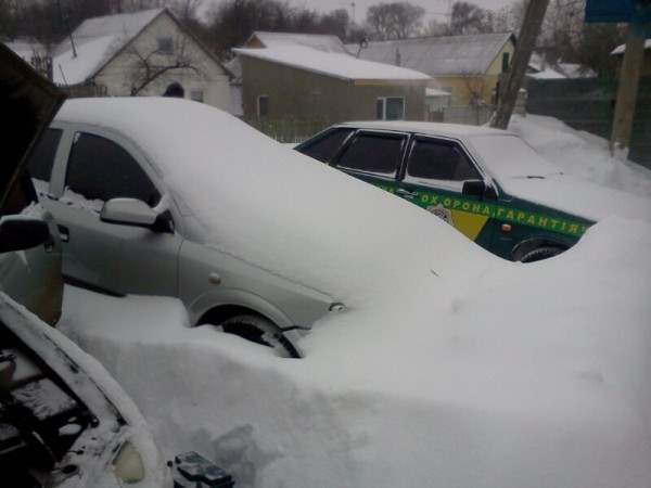 снег в днепропетровске 28 января 2014. 5
