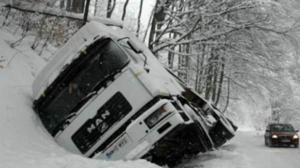 снег в румынии