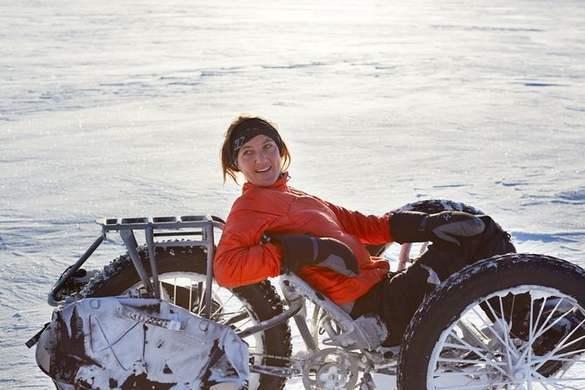 южный полюс на велосипеде