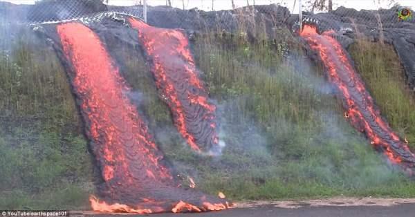 По улицам Гавайев протекают реки огня (Фото и видео)