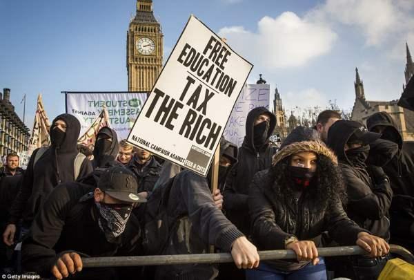 великобритания протесты25