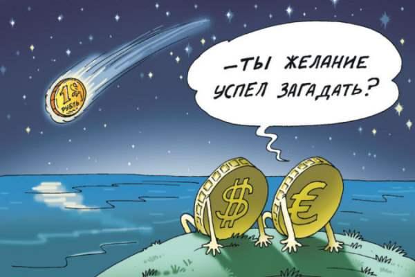 падающий рубль