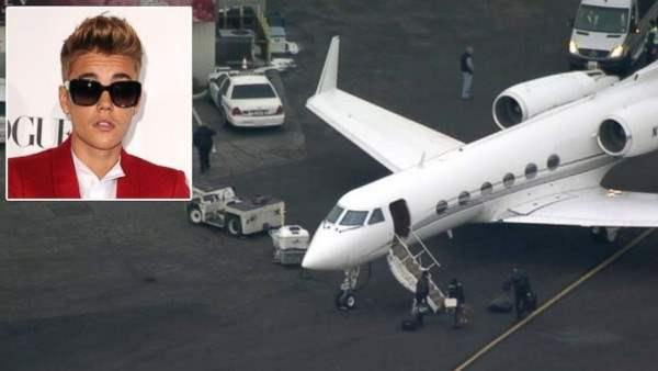 самолет джастин бибер
