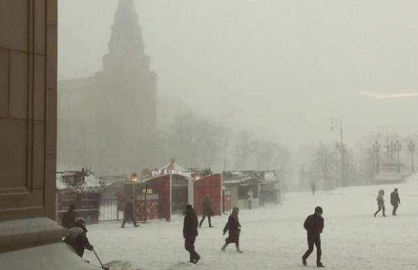 снег москва декабрь 2014 2