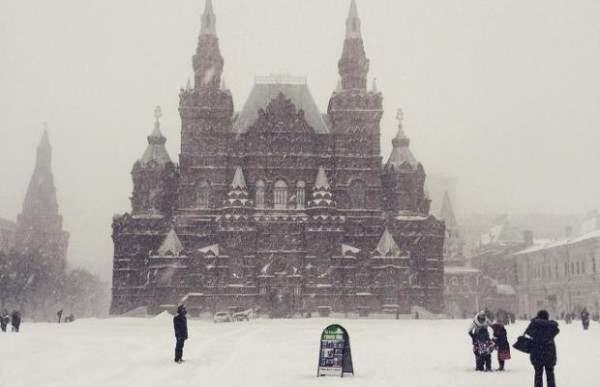 снег москва декабрь 2014
