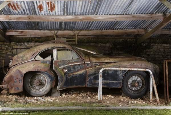Talbot-Lago после ДТП.