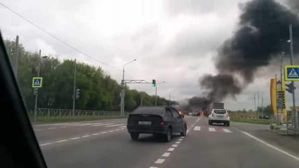 В Ставропольском Крае взорвался грузовик.