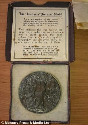 Немецкая медаль о потоплении Лузитании