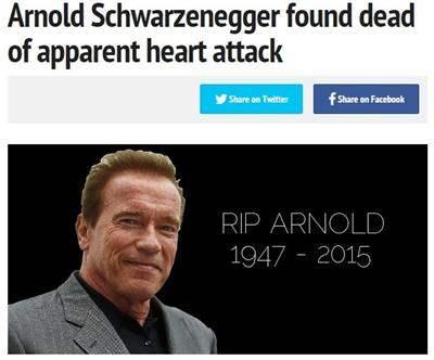 Интернет взорвала новость о смерти Арнольда Шварценеггера