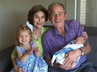 Джордж Буш стал дедушкой во второй раз.
