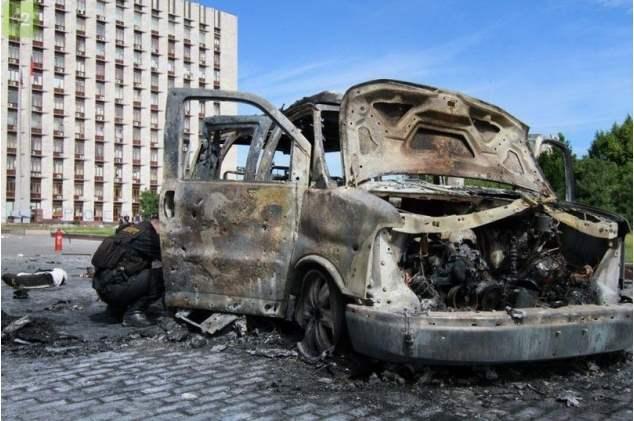 донецк взрыв авто