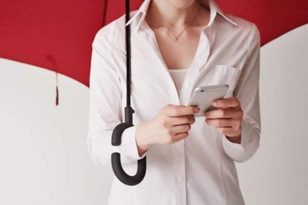 Зонтик, который позволяет записывать текстовые сообщения