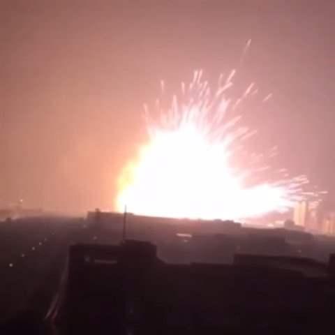 В Китае взорвался порт.