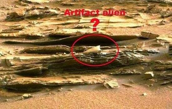 Обломок загадочного артефакта найден на Марсе