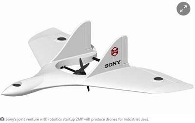 SONY представила беспилотник с вертикальным взлетом.