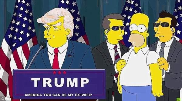 Симпсоны предсказали президентство Дональда Трампа 15 лет назад (ВИДЕО)