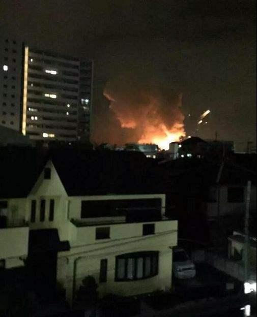 Оглушительный взрыв потряс американскую военную базу в Японии (ВИДЕО)