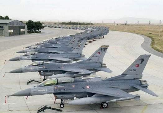 Турецкие авиабазы переходят на повышенную готовность