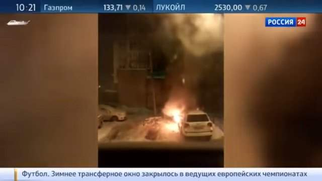 В Омске сожгли автомобиль за поднятие цен на маршрутки