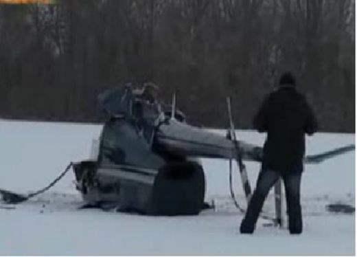 Под Тамбовом упал вертолет (Видео)