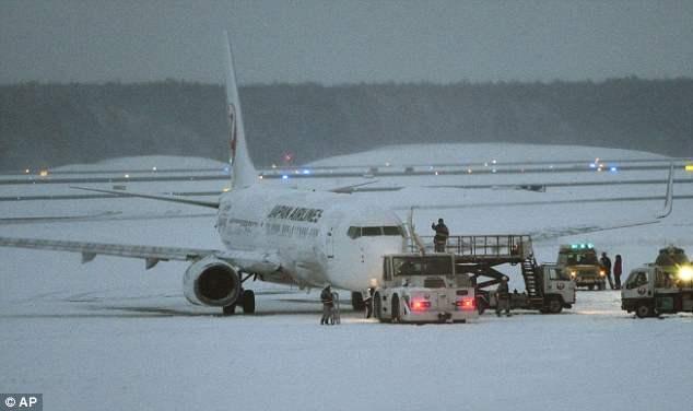 В Японии самолет совершил аварийную посадку