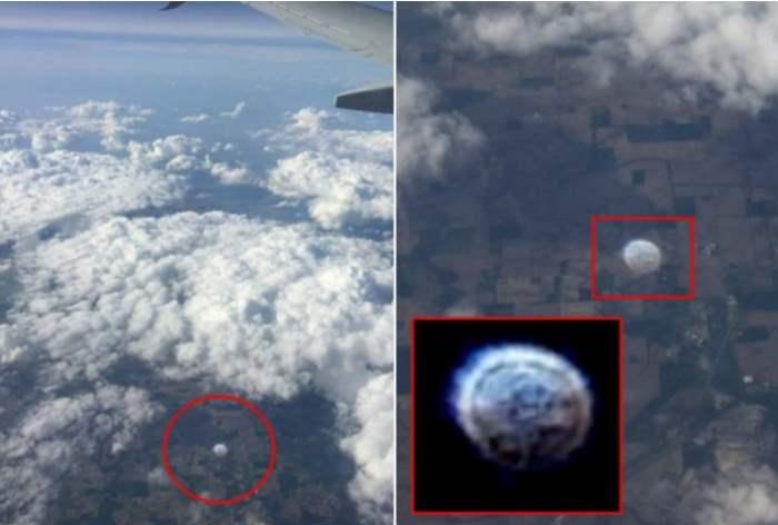 НЛО под крылом самолета