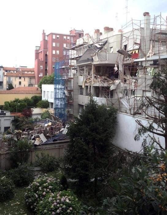 В Милане обрушился дом (Видео и фото)