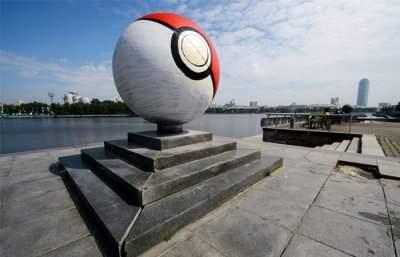 В Екатеринбурге появился огромный покебол