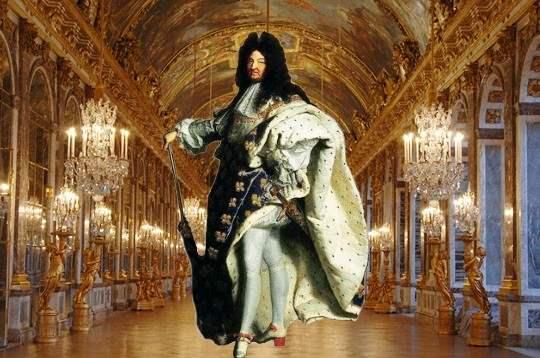 Король Франции (14 мая 1643 — 1 сентября 1715) Людовик XIV и Зеркальный Зал в Версале.