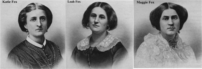 Сестры Фокс: Кейт (1838–92), Леа (1814–90) и Мэгги (1836–93)