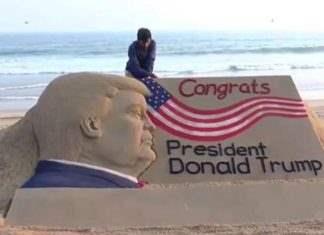 Песчаный Дональд Трамп