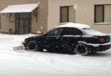 Уборка снега в Украине