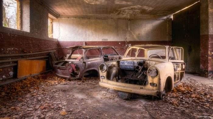 Заброшенные автомобили в Британии