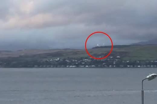 вспышки в небе шотландия