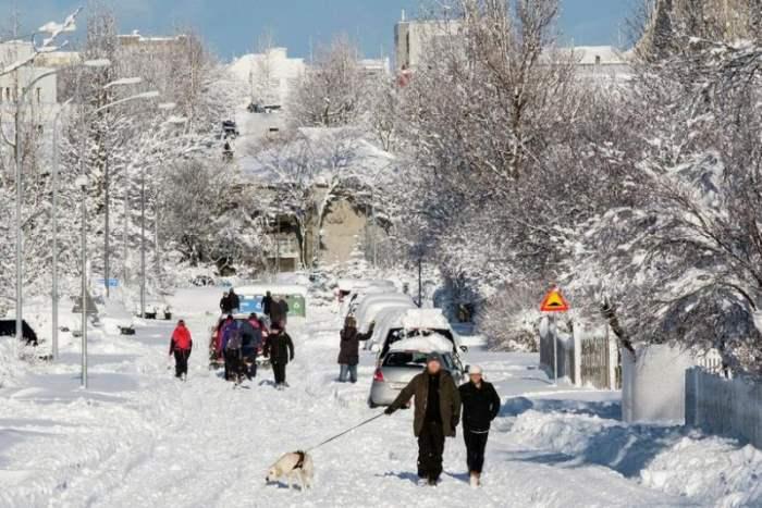 снег рейкявик