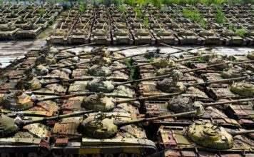Кладбище танков в Украине