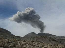 The volcano of Sabancay in Peru